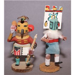 2 MINATURE NAVAJO KACHINAS