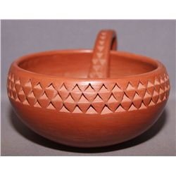 HOPI POTTERY BOWL AND LADDLE