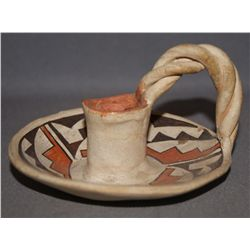 ACOMA POTTERY CANDLE STICK