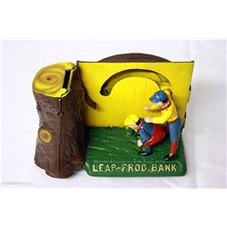 Leap Frog  Bank Cast Iron