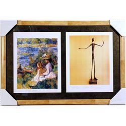 Pierre-Auguste Renoir and Alberto Giacometti-Lithographs Set
