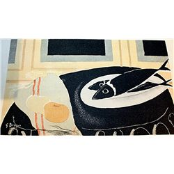 RARE ORIGINAL SIGNED LITHOGRAPH BY ARTIST GEORGES BRAQUE