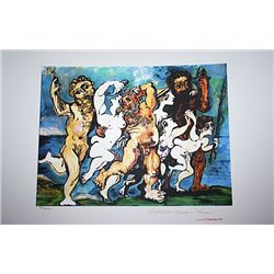 Limited Edition Picasso - Silenus Dancing In Company - Collection Domaine Picasso