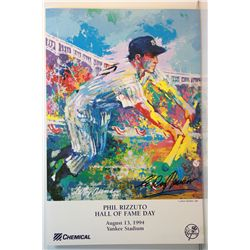 Leroy Neiman Double Signed Lithograph - Phil Rizzuto