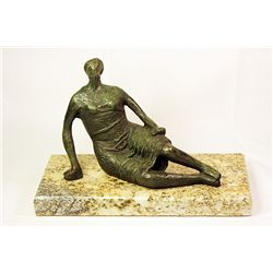 Henry Moore  Original, limited Edition  Bronze- Woman with Dress