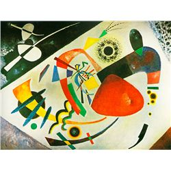Red Spot II - Kandinsky - Limited Edition on Canvas