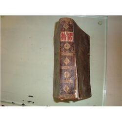 Antique French book dated 1802