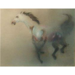 Mustang By Kaiko Moti-Aquatint Etching S/N