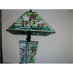 Hand made Lilly Pond Square Lamp (after Tiffany)