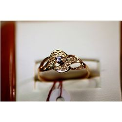 #64 - Fancy Ladys 14K Yellow Gold Promise Ring