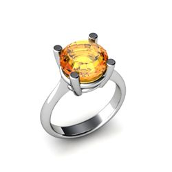 Citrine 3.30ctw Ring 14kt White Gold