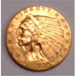 1925-D $2 1/2 DOLLAR  GOLD INDIAN HEAD