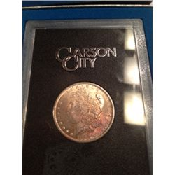 1884 CARSON CITY MORGAN DOLLAR, BU IN GSA HOLDER