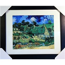 Vincent Van Gogh  Limited Edition-Cottages with Thatched Roofs