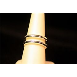 Unisex Fancy Stylish Sterling Silver Tiffany Ring