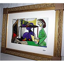 Picasso  Limited Edition - Interior With A Girl Drawing