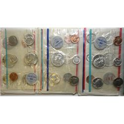 1962 THRU 1964 U.S. MINT UNCIRCULATED SETS