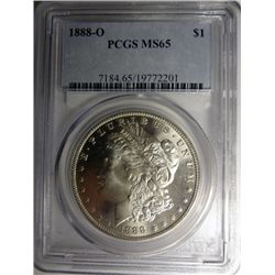 1888-O MORGAN DOLLAR PCGS MS65 SUPER GEM