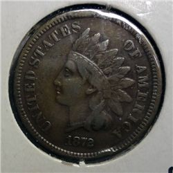 1872 INDIAN ONE CENT FINE