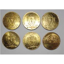 6 Maritime Medals circa 1930, All CHBU  Rarely seen so nice