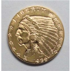 1925-D $2 1/2 Gold, Ch BU 66, a high end beauty!