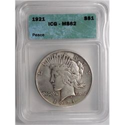 1921  Peace $  ICG62  63 GS bid = $350
