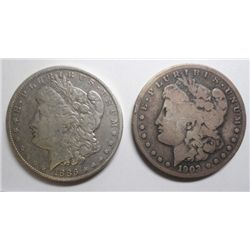 1886O VF/XF and 1903S VG Morgan $