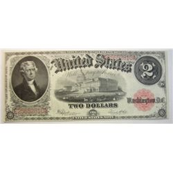 1917 $2   Legal tender note     choice CU