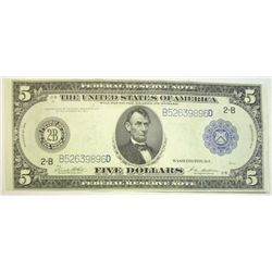 1914  $5 FR note   a very choice CU note
