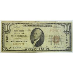 1929  $10 National currency note VG  Mt Sterling KY
