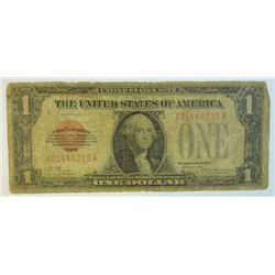 1928 $1.00 U.S. LEGAL TENDER NOTE, AVERAGE CIRCULATED