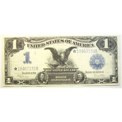 1899    $1  STAR NOTE  RARE silver certificate  Black Eagle  XF