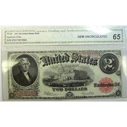 1917  $2  legal tender note  CGA65