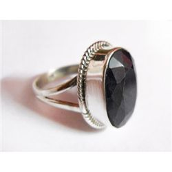 Natural 33.70 ctw Sapphire Oval Ring .925 Sterling