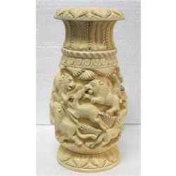 Animal Design Ivory Finish RoseWood Carving