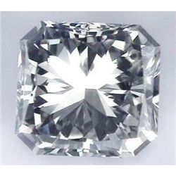 Diamond EGL Cert. Princess 0.50 ct D, Si1