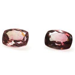 Natural 3.23ctw Bi-Color Tourmaline Cushion (2) Stone