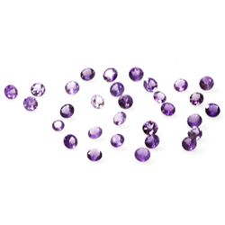 Natural 12.47ctw Amethyst Round Stone 4.5 to 8 (30)