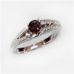 Natural 1.39 ct 4.41g Pink Tourmaline 14k WG Ring