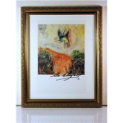 Marc Chagall Original Lithograph - La Caduta Di Icaro