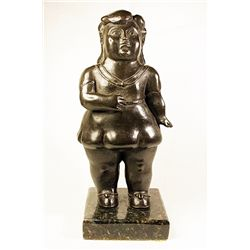 Botero   Original limited Edition Bronze Sculpture - Girl -