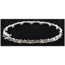 Genuine 1.40 ctw Diamond Bracelet 14kt W/G 9.40g