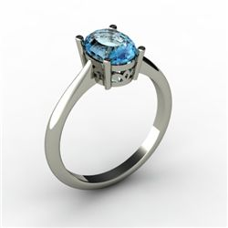 Topaz 1.60 ctw Ring 14kt White Gold