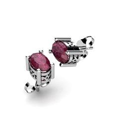 Ruby 1.20ctw Earring 14kt White Gold
