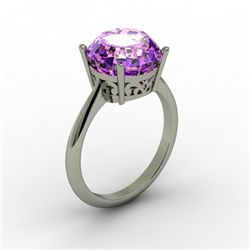 Amethyst 3.30 ctw Ring 14kt White Gold