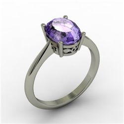 Tanzanite 2.50 ctw Ring 14kt White Gold