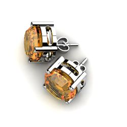 Citrine 6.60ctw Earring 14kt White Gold