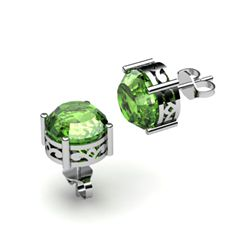 Tourmaline 3.10ctw Earring 14kt White Gold