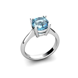 Topaz 2.50ctw Ring 14kt White Gold