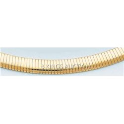 LIGHT OMEGA NECKLACE 8mm 18in. 37.2 grs 14kt Y Gold